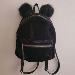 H&M Mini Backpack With Pom Poms